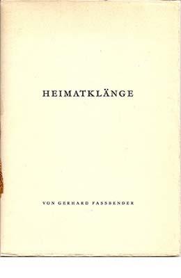 Gerhard Fassbender, Heimatklänge