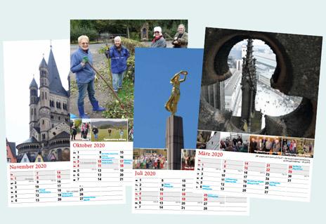 Musterseiten des HKV-Kalenders für 2020